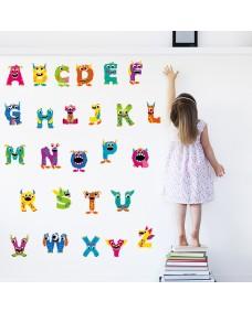 Wallstickers -  Mini monstre, Internationalt alfabet