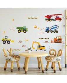 Wallstickers -  Akvarel køretøj