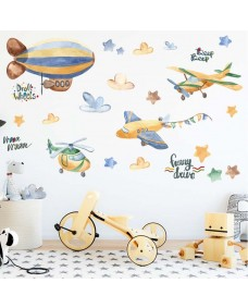 Wallstickers -  Luftballong og fly