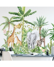 Wallstickers -  Akvarel jungle