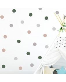 Wallstickers - Prikker i smukke farver