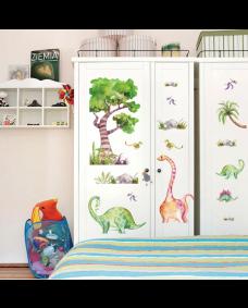 Wallstickers - Akvarel dinosaurer