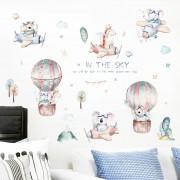Wallstickers -  Luftballonger, fly og akvareldyr