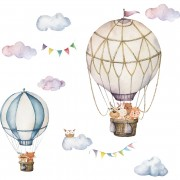 Wallstickers - Luftballong med ugle