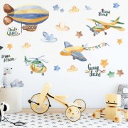 Wallstickers -  Luftsballon og fly