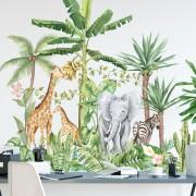 Wallstickers -  Akvarel jungle